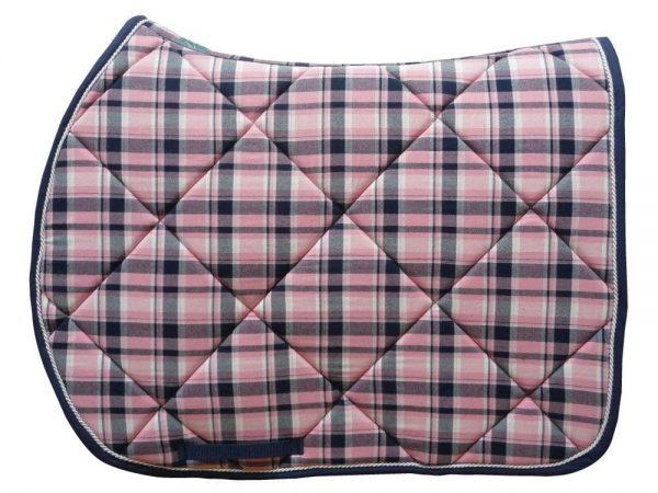 tapis de selle écossais rose
