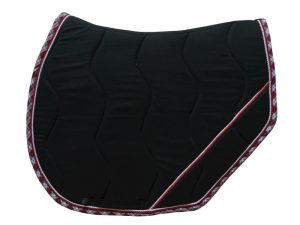 tapis de selle noir écossais