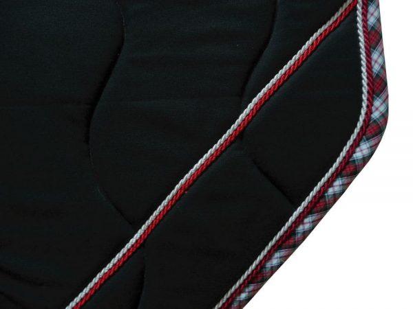 tapis de selle noir écossais détails