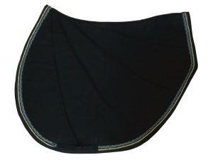 tapis de selle noir et or